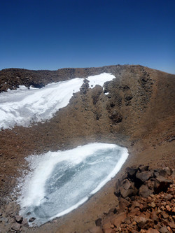 crater lake close to 5900m