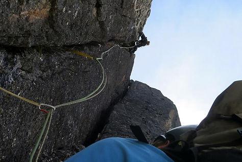 Las Tenazas climbing sector - Quimsa cruz