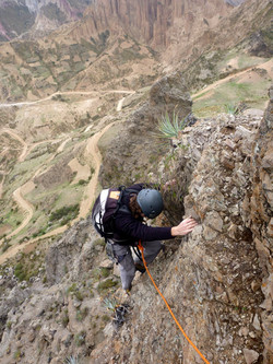 climbing to the top - muella del dia