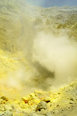 inside the crater
