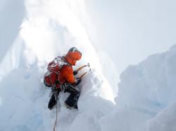 reaching the ridge of Alpamayo