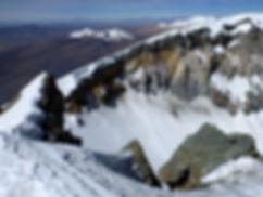 crater Parinacota volcano