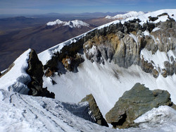 The huge crater