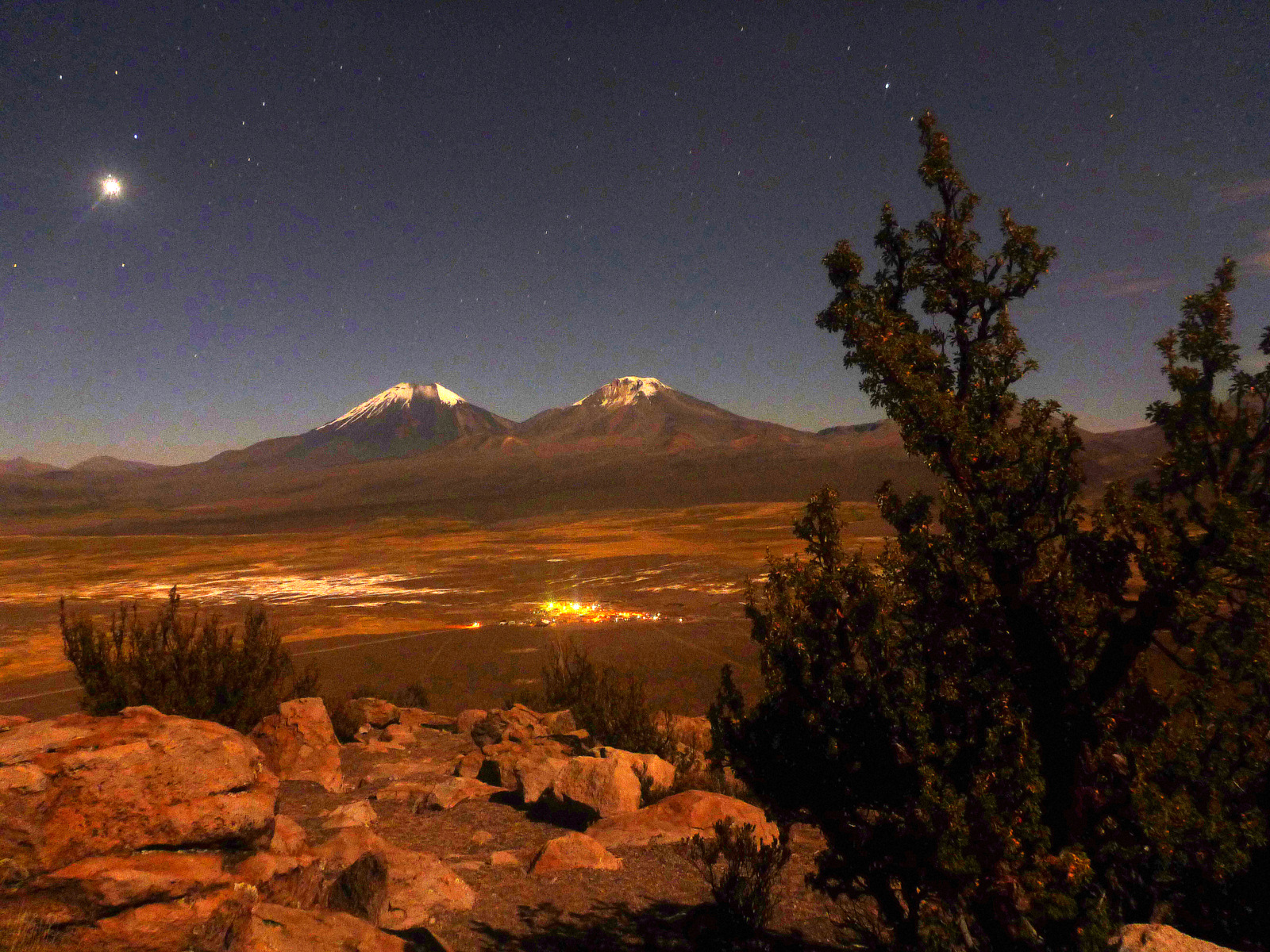 Parinakhota and Pomerape by night