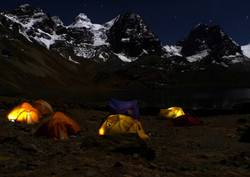 Base camp at laguna Chiarkhota