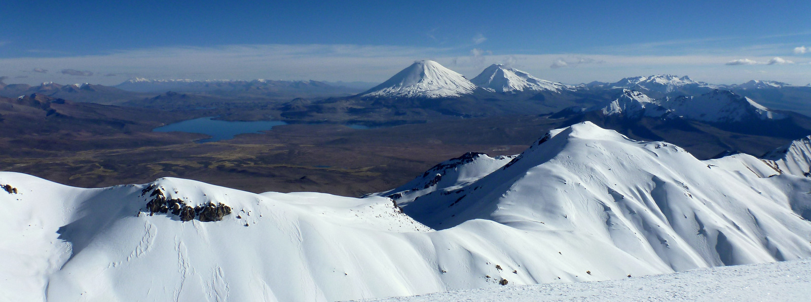 the twins seen from Acotango volcano