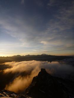 view towards Illimani