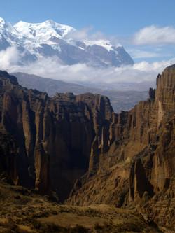 Illimani from Palca canyon