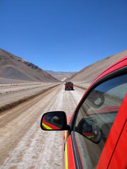 on the ruta de los 6000's