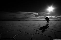 trekking in the salar de uyuni