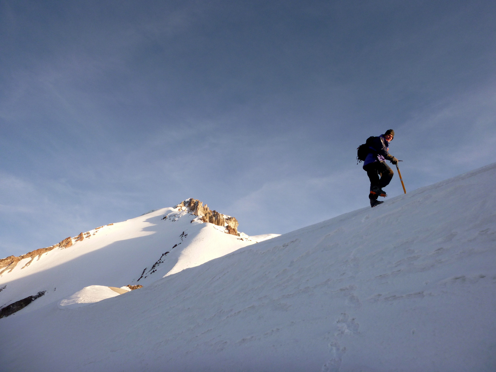 reaching the eastern ridge