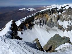 Crater from Parinakhota volcano