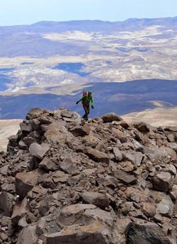 climbing Tarapaca