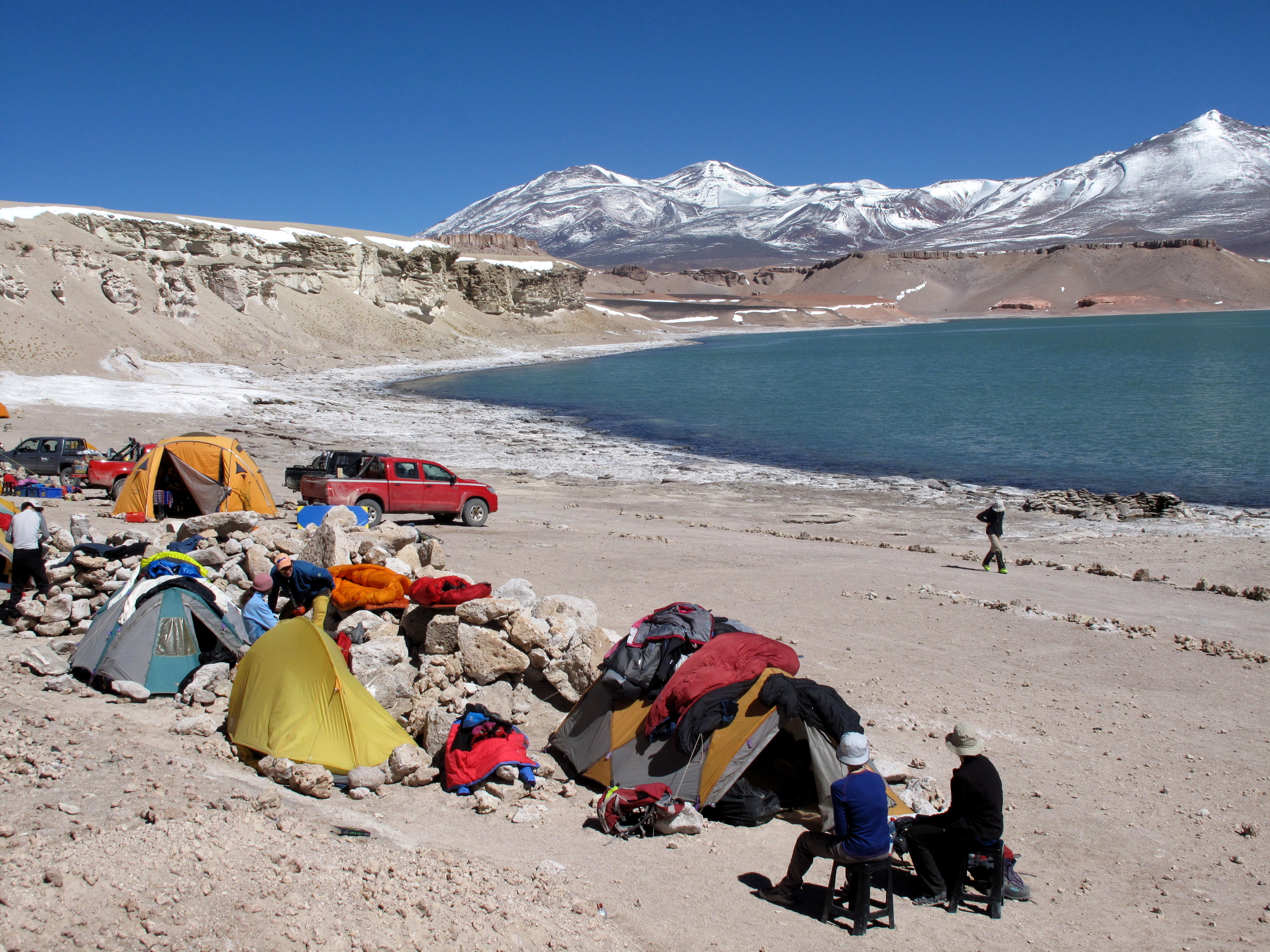 Base camp at laguna verde