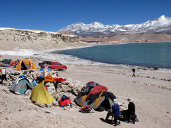 Base camp at laguna verde