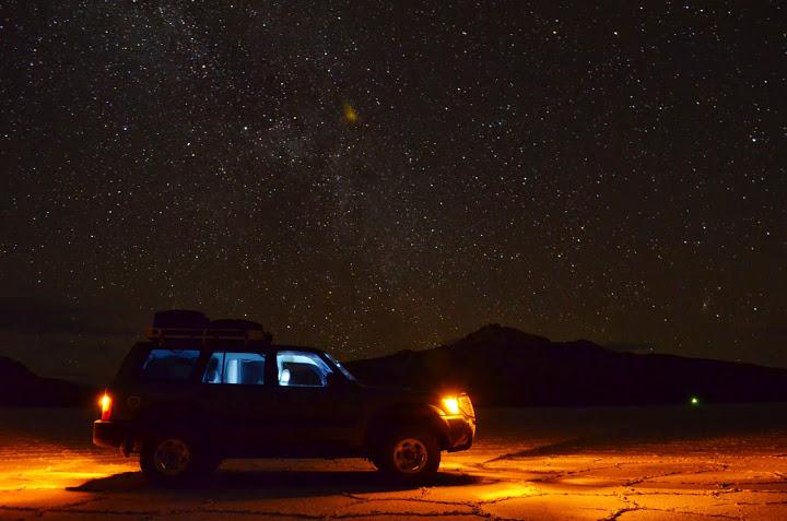 Sternen Himmel auf dem Salar