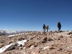reaching the summit of cerro Toco