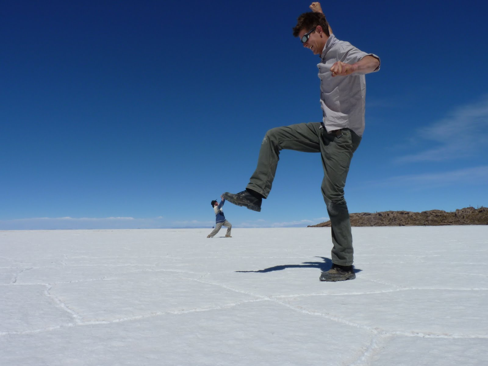 Optical ilusion on the salt flat