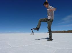 Optical ilusion on the salt flat