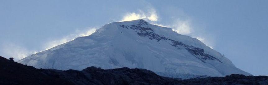 Huascara is a climb far above 6000m altitude in Peru