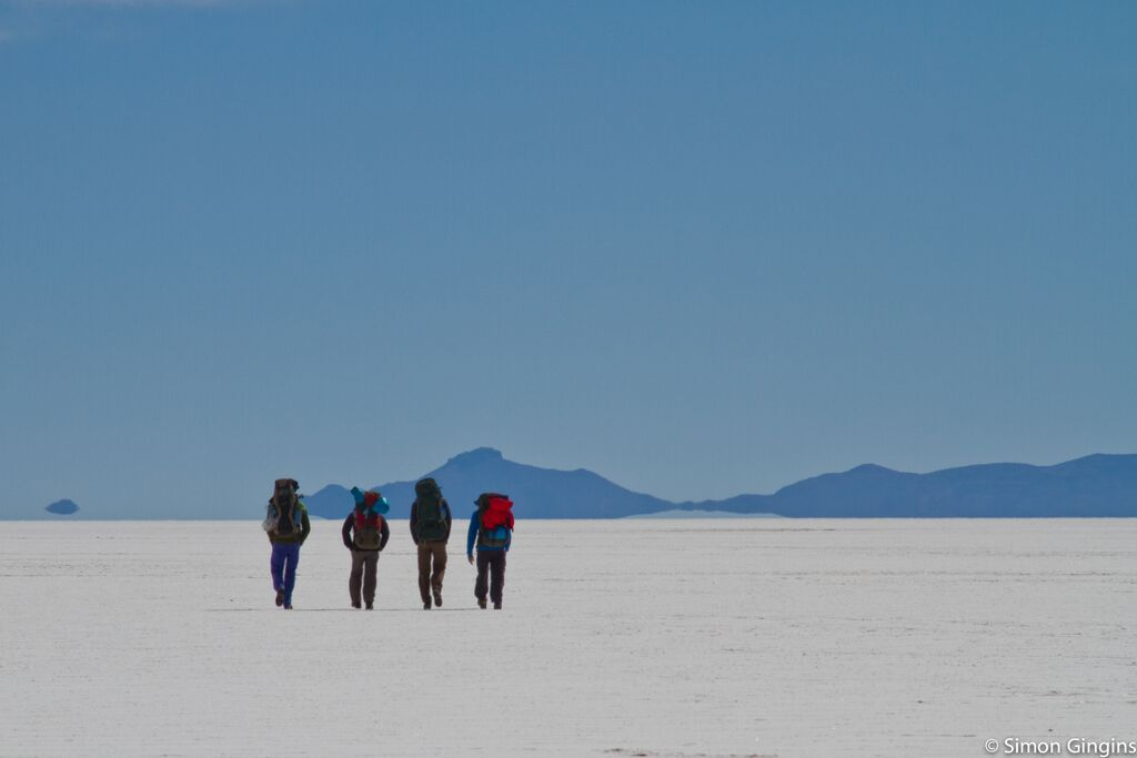 trekking in the Saltflat