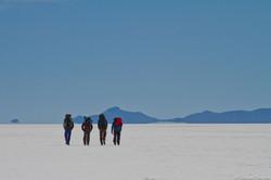 trekking in the Saltflat