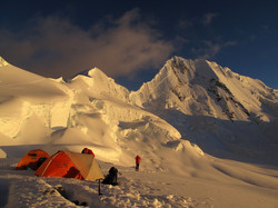 High camp with view on Quitaraju