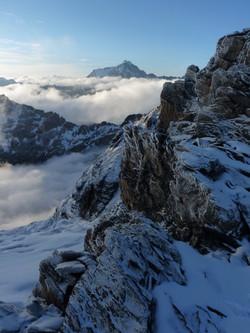 vue sur la face ouest  Huayna potosi