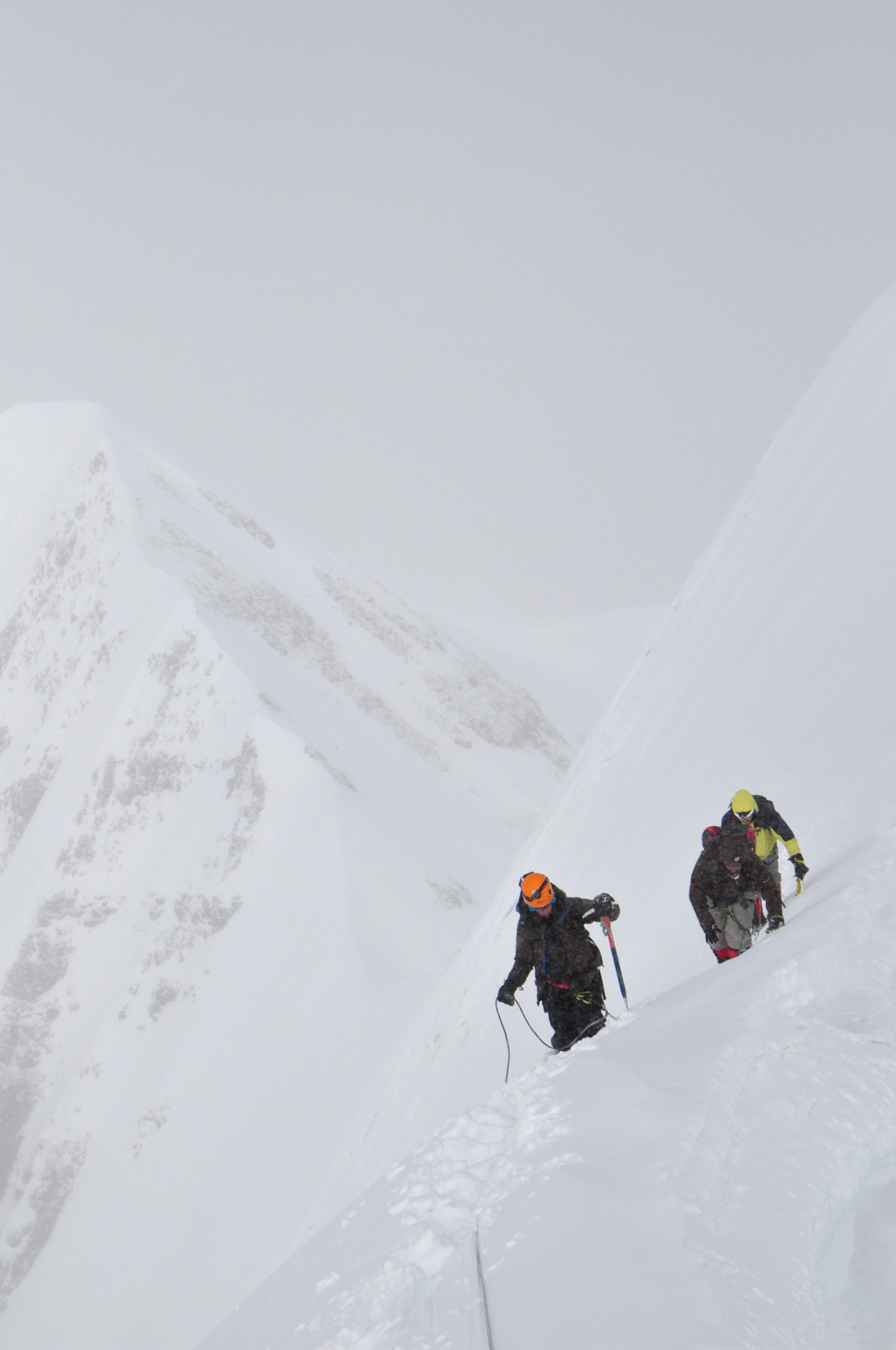 Summit in reach during a cloudy day