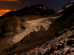 Zongo glacier by night