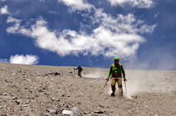 descent in scree slopes