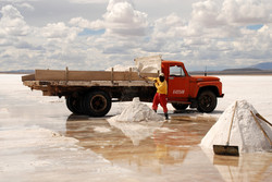 ouvrier de la mine de sel Colchani