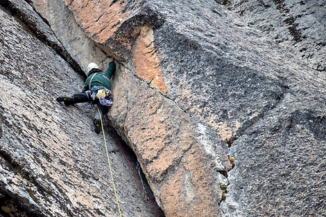 off-width climbing Bolivia