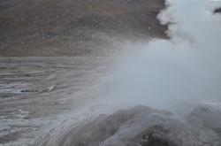 Tatio geyser at 4600m alt.