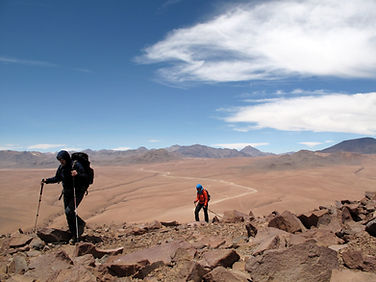 climbing near the laguna colorada