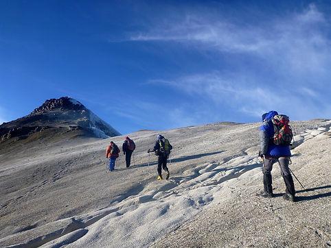 climbing Acotango volcano