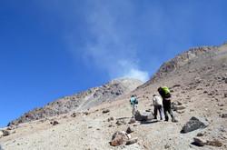 climbing Iruputuncu volcano