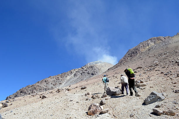 Volcan Pabellon near laguna Colorada in the south of Bolivia