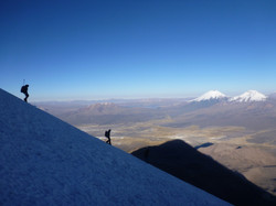 coming down from Sajama
