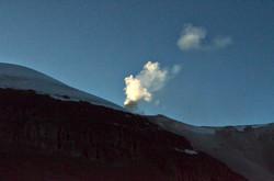fumarole on guallatiri volcano
