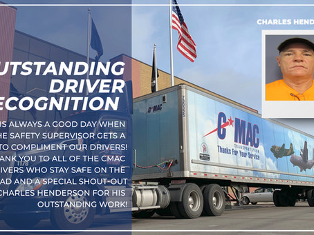 Outstanding Driver Recognition - Charles Henderson