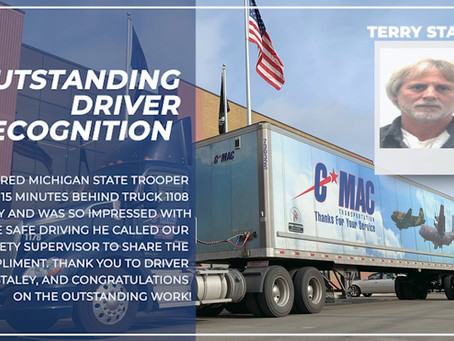 Outstanding Driver Recognition - Terry Staley