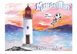 """Carte postale """" Phare des Onglous à Marseillan"""""""