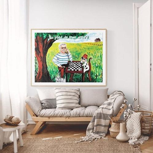 """Poster Photo """" Au pied de mon arbre"""""""