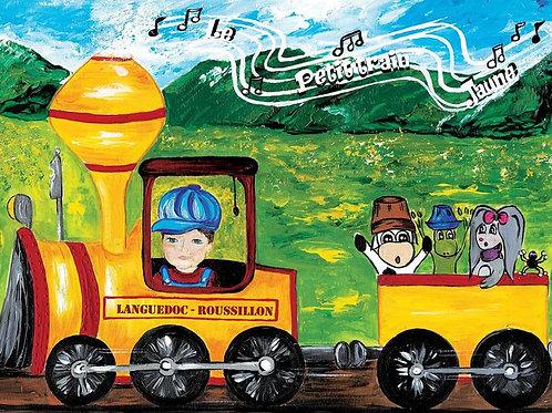 "Carte postale "" Le petit train jaune """