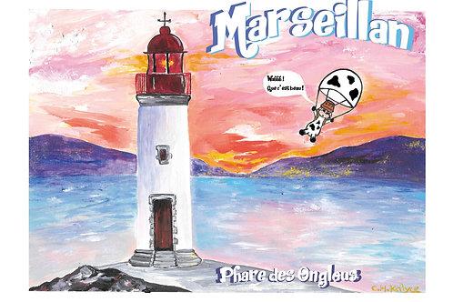 """Carte postale """"Phare des Onglous à Marseillan"""""""