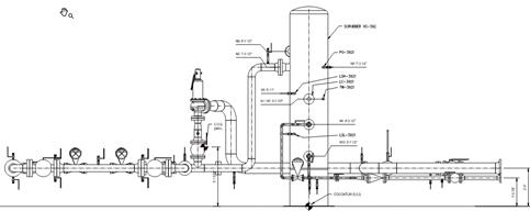 Drawing of Natural Gas Skid