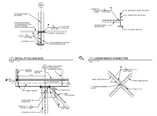 Drawings of Access Platforms with integrated motor lift