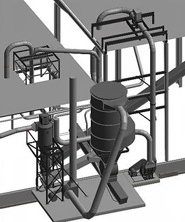 3D model of air-material-separation system