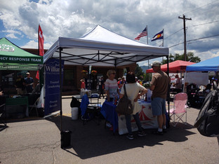 4th of July booth at the Monument Parade